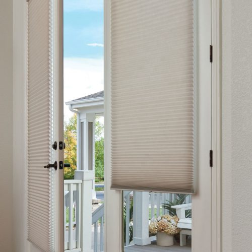 lindQuest Duette Honeycomb Shades Custom Door Honeycomb Shades Troy IL